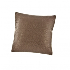 Full grain finish brown man-made leatherette jewellery presentation pillow