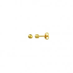 Gold-plated \\\'Studex\\\' ear-piercing stud earrings