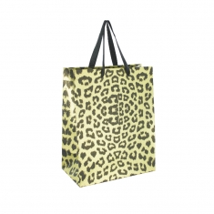 Leopard skin print paper carrier bags