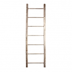 Natural fibre ladder display stand