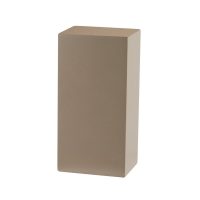 Necklace display platform in satin-finish taupe painted wood