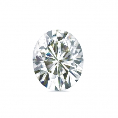 Oval-cut \\\'Forever Brilliant\\\' Moissanite - 69 facets