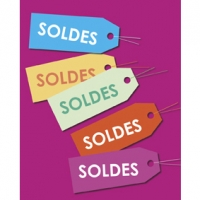 Poster with French \\\'Soldes\\\' labels (x2)
