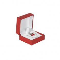 Red soft touch man-made leatherette jewellery presentation boxes