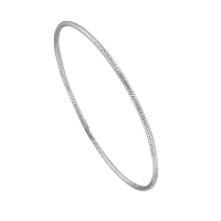 Rhodium plated sterling silver bangle