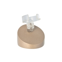 Round taupe coloured ring holder, satin-finish painted wood