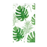 Jungle print paper bags on white background