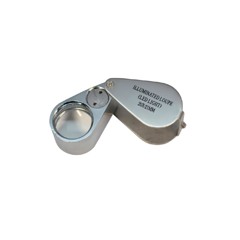 Jeweller's loupe with LED light 20x magnification