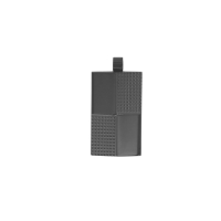 Black coloured embossed steel rectangular pendant for Him