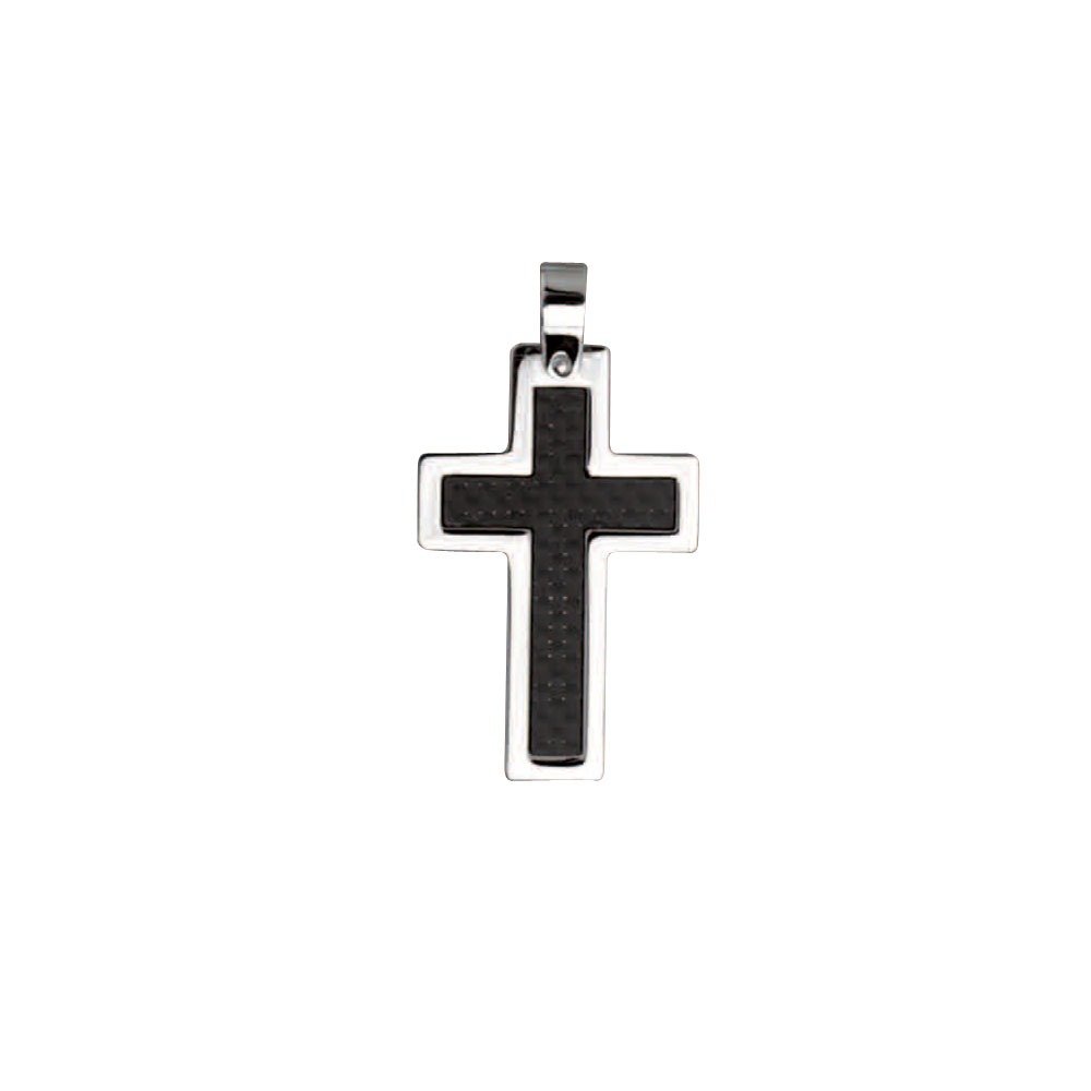 Carbon fibre and steel crucifix
