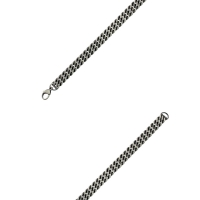 For him, stainless steel bracelet with three rows of twisted steel