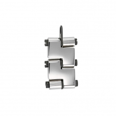Stainless steel articulated pendant for Him