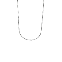 Stainless steel ball chain necklace - 50cm