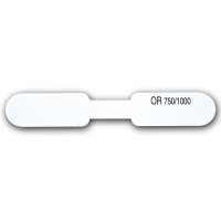 Self-adhesive plastic labels for rings - with French inscription OR 750/1000