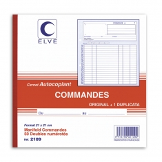 French carbon copy book for orders - double copy