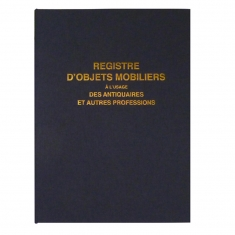 French legal register for antique dealers