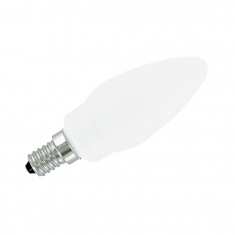 Frosted glass flame shaped halogen light bulb E14