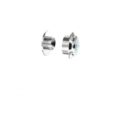 Swarovski sterling silver Gemmotion presettings with White Zirconia stones
