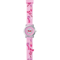 Ballet shoes theme children\\\'s watch with metal case and silicone strap