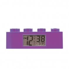 Purple Lego Friends Brick alarm clock