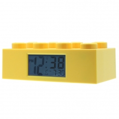 Yellow Lego Brick alarm clock