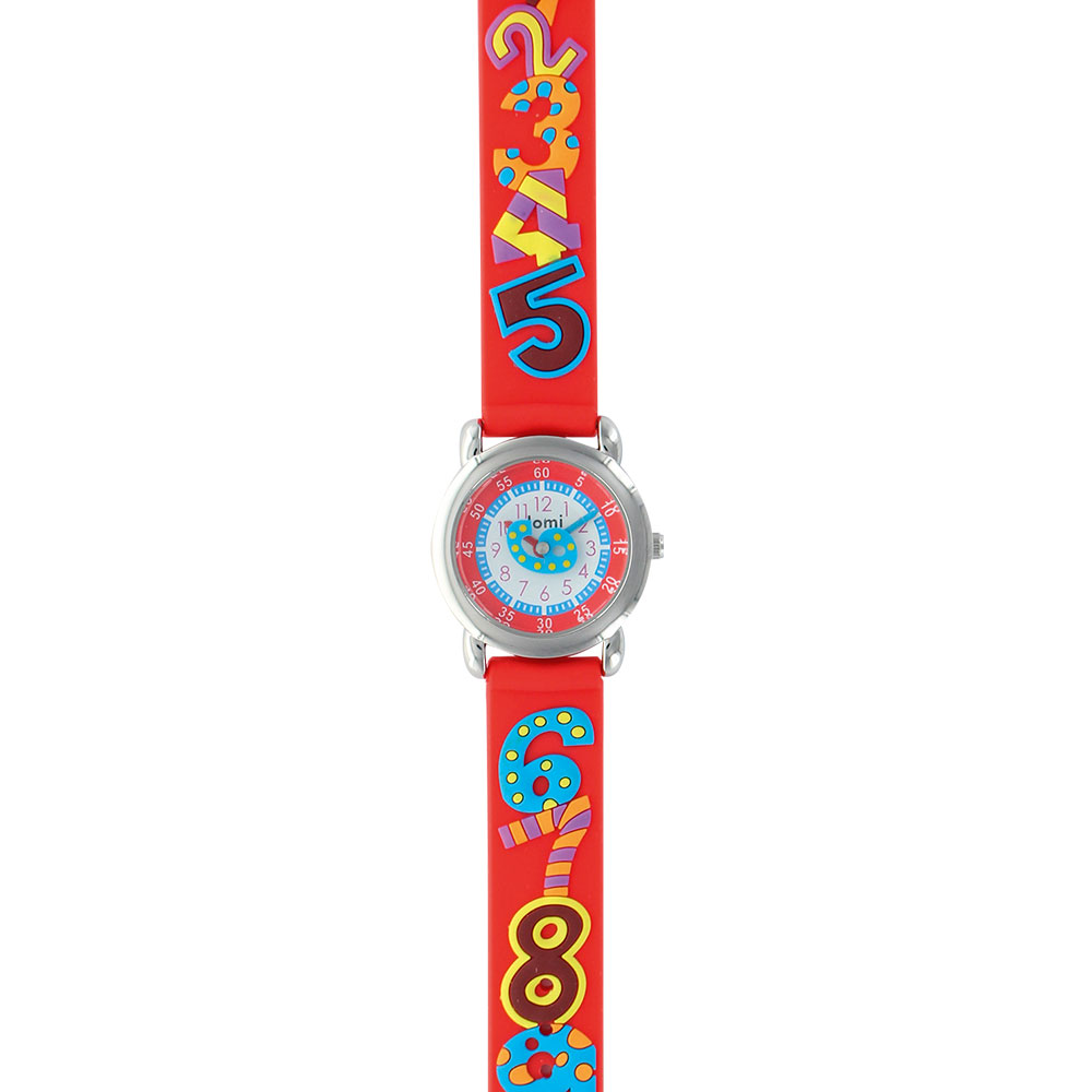 Child's watch decorated with numbers