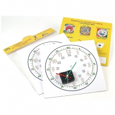 Colouring clock kit