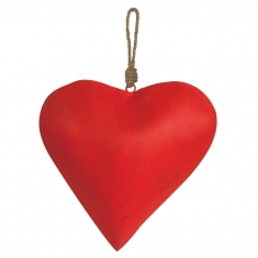 Plain red metal heart to hang
